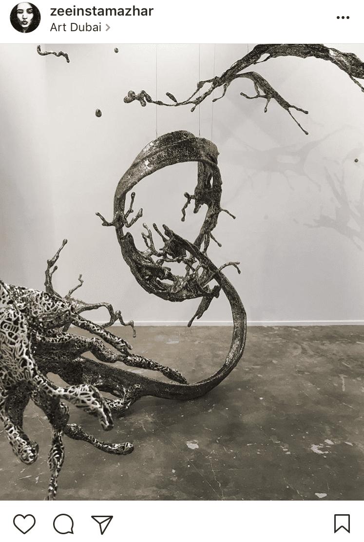 2. Water dripping by Zheng Lu showcased with Sundaram Tagore @zeeinstamazhar