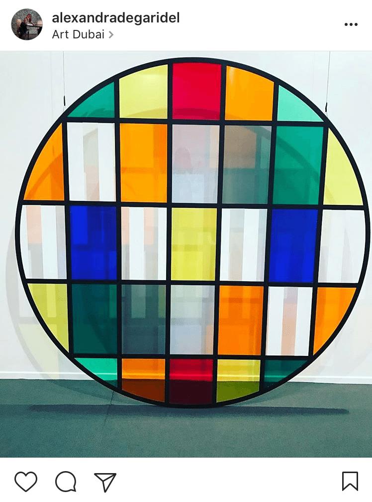 7. Tondo n.6 by Daniel Buren showcased with Galleria Continua @alexandradegaridel