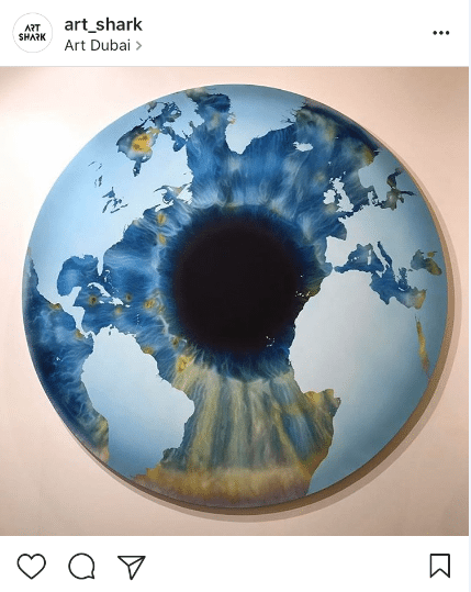 8. The Eye of History (Atlantic Perspective) by Marc Quinn showcased with Custot Gallery @art_shark