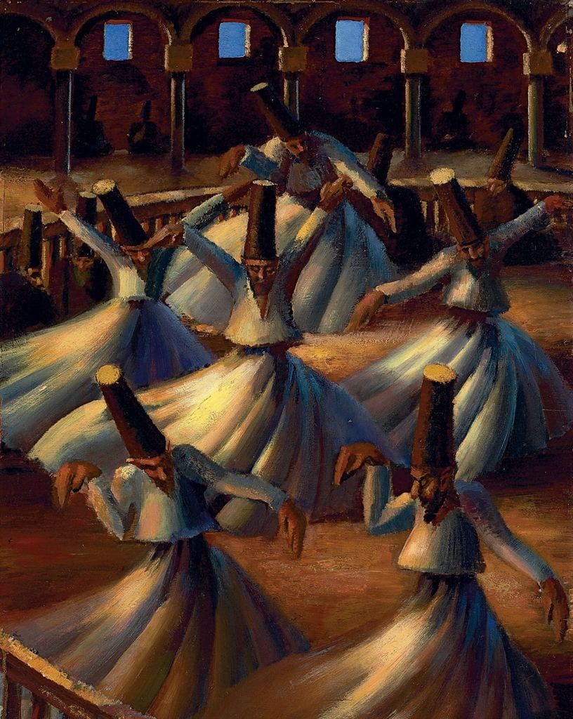 Mahmoud Said, The Whirling Dervishes, 1929. Image Courtesy Christie's.