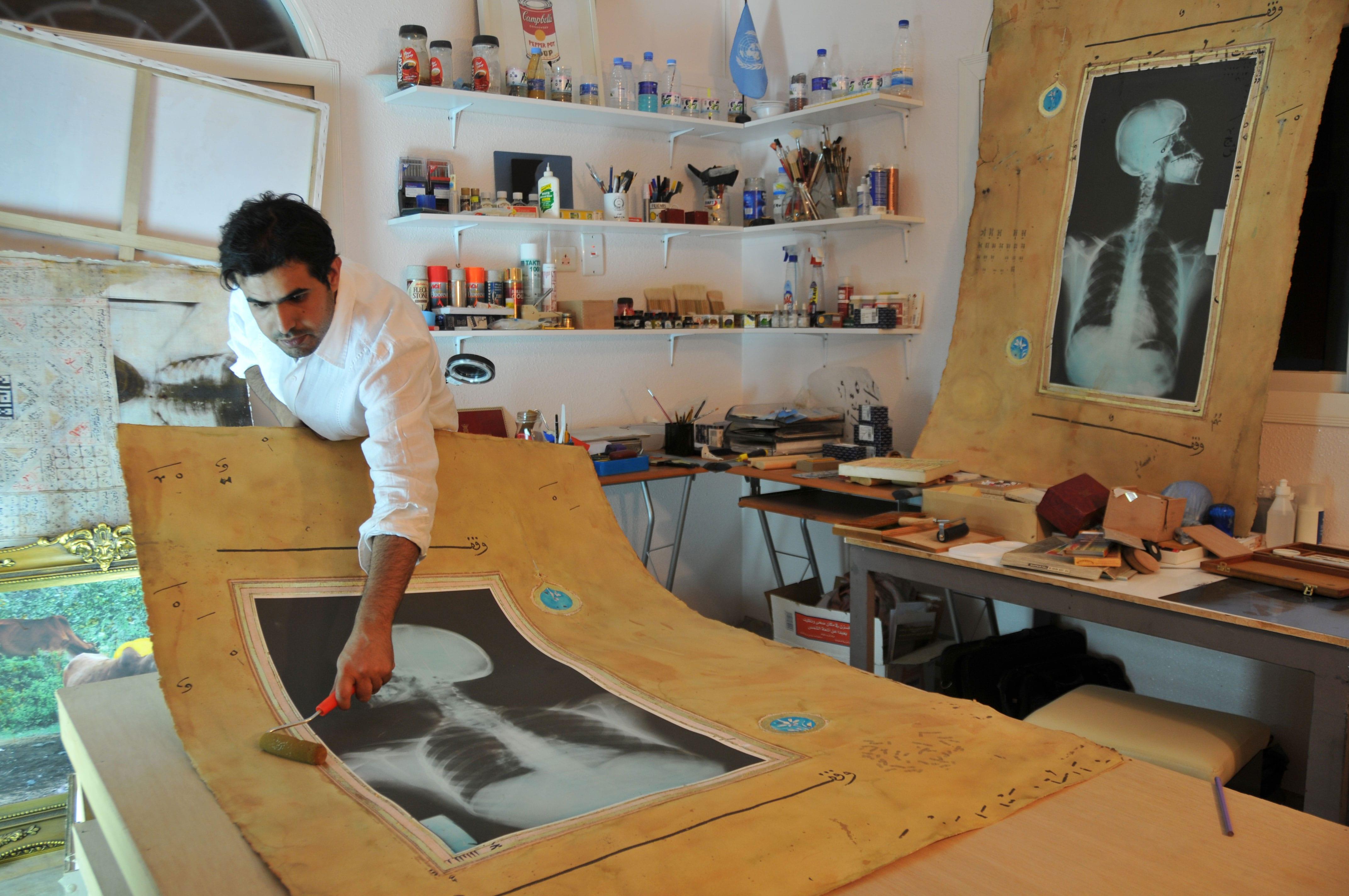 Ahmed-Mater-in-Studio