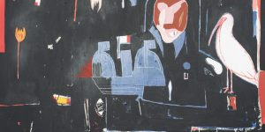 Farshad Farzankia I Blackboard I 2017 I Acrylic and oil stick on canvas I 210 x 210 cm I 82 x 82 in