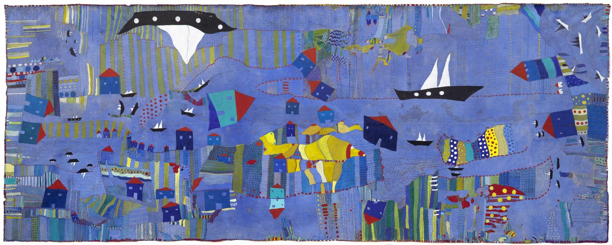 Huguette Caland, Le Grand Bleu, 2012. Courtesy Caland Family