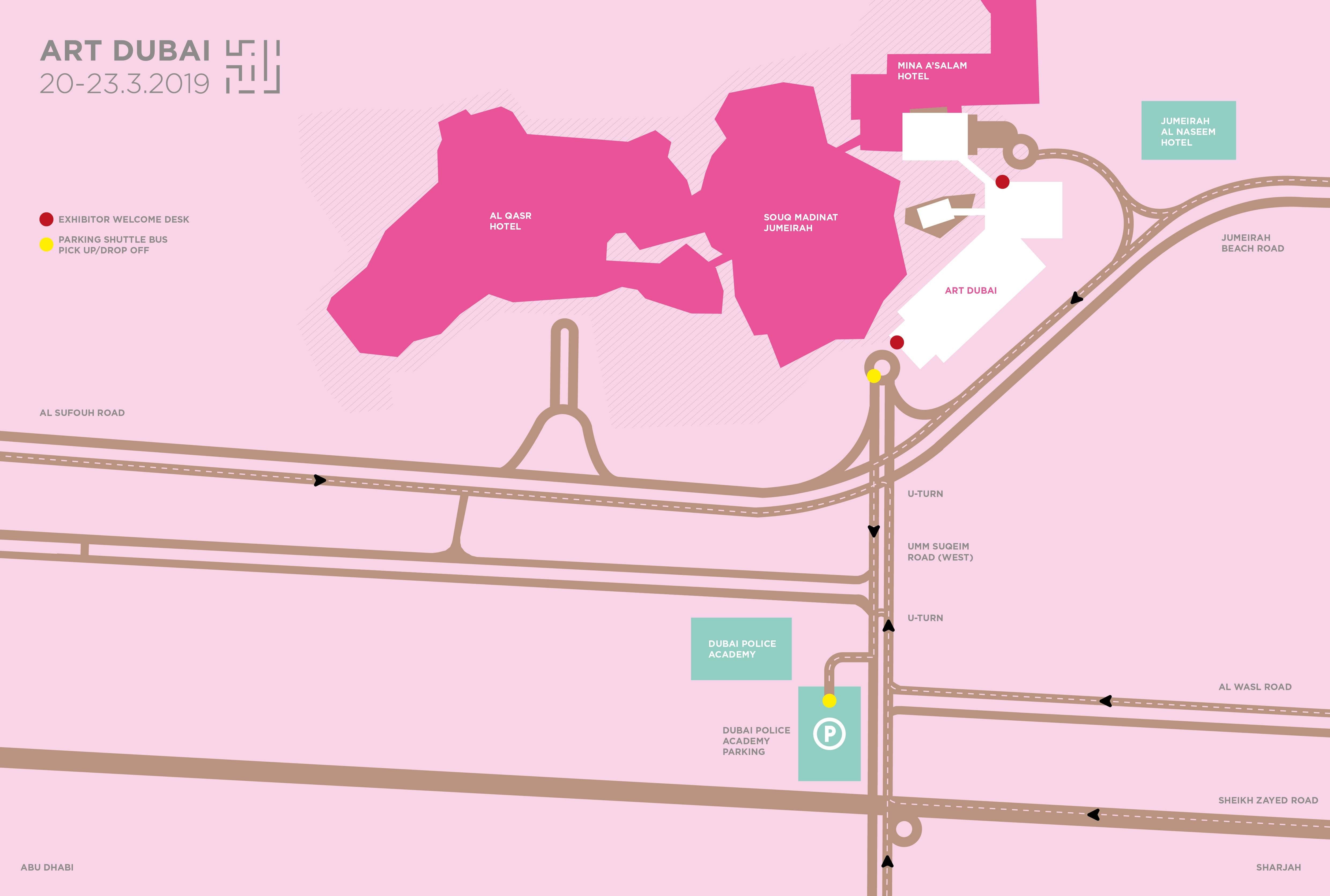 THE FAIR - Art Dubai Dubai Maps And Directions on